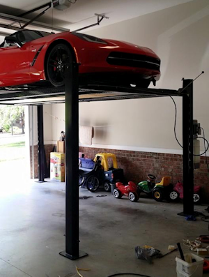 Car lift wiring & EV Charger Wiring by Raleigh Electrician