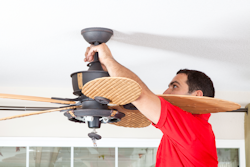 Ceiling Fan Installation by Raleigh Electrician
