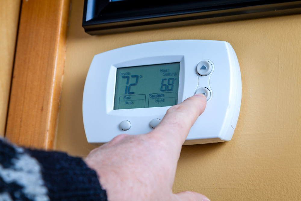 Adjusting the Temperature on the Digital Thermostat